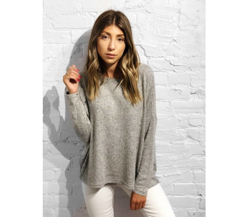 Maye Pullover Knit Light Grey Melange