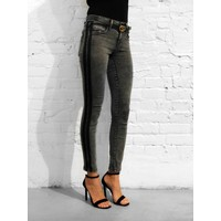 Rain Stripe Jean Grey Denim