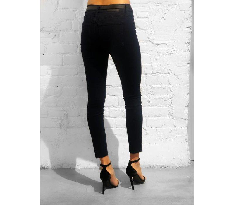 Gia Mid Rise Super Skinny Pant Onyx