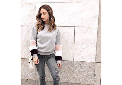 Nouveau Noir Saga Sweatshirt Light Grey Melange