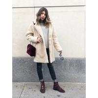 Aurelia Oversized Sherpa Coat