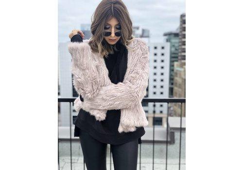 Nouveau Noir Courcheval Fur Jacket Dusty Rose **FINAL SALE**