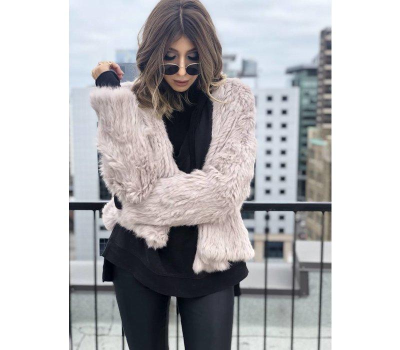 Courcheval Fur Jacket Dusty Rose **FINAL SALE**