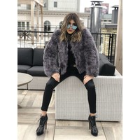 Belledonne Ostrich Feather Jacket Lavender Grey **FINAL SALE**