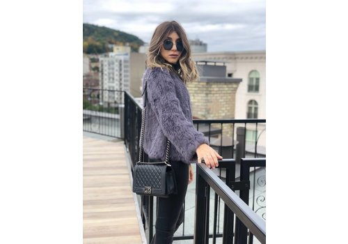 Nouveau Noir Courcheval Fur Jacket Slate **FINAL SALE**