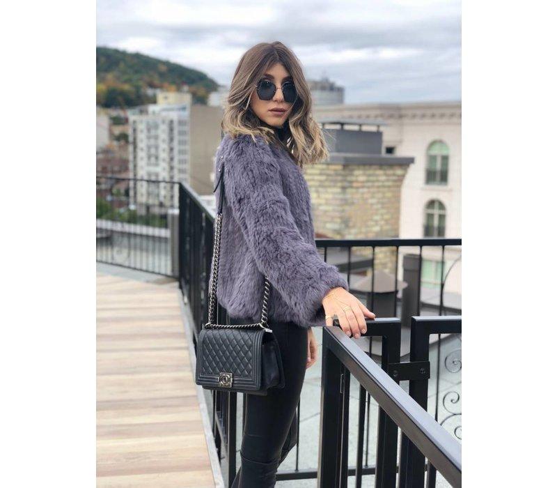Courcheval Fur Jacket Slate **FINAL SALE**