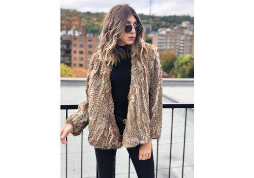Nouveau Noir Courcheval Fur Jacket Natural **FINAL SALE**