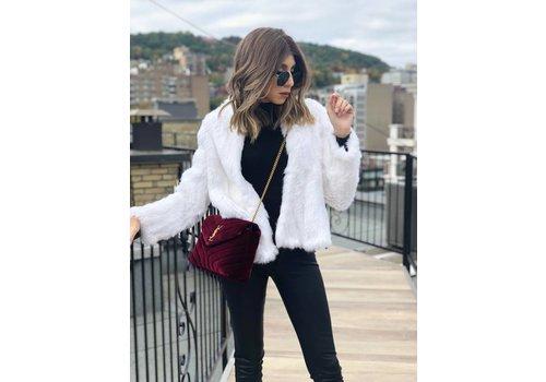 Nouveau Noir Courcheval Fur Jacket White **FINAL SALE**