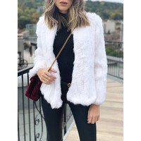 Courcheval Fur Jacket White **FINAL SALE**
