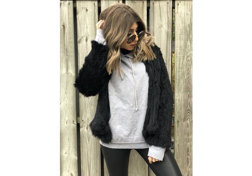 Nouveau Noir Courcheval Fur Jacket Black **FINAL SALE**