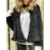 Courcheval Fur Jacket Black **FINAL SALE**