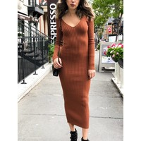 Gia Ribbed Knit Dress