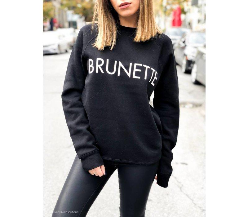 Brunette Crew Black