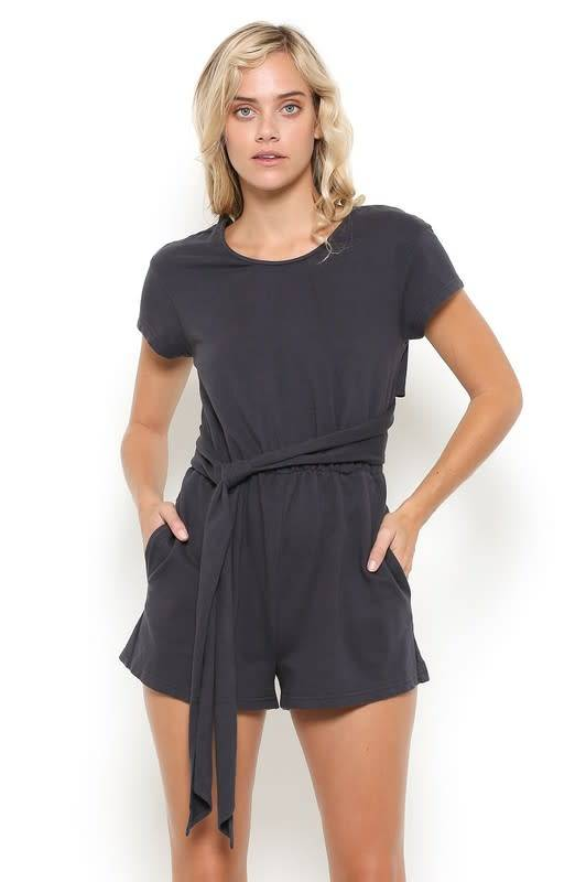 S/S CROSSBACK COTTN TERRY ROMPR