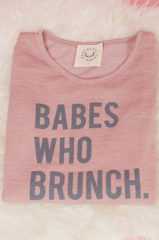 BABES WHO BRUNCH L/S TEE