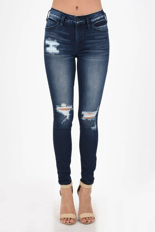 DISTRESSED SKINNY 9.5 RISE 30""
