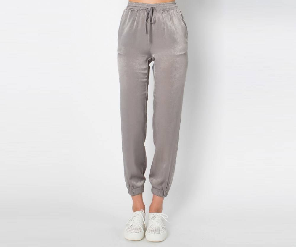 BRUSHED SATIN JOGGER PANTS