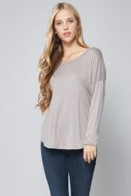 L/S POCKET FRONT KNIT TUNIC
