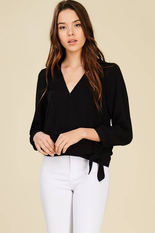 WRAP FRT BAND SIDE TIE WST TOP