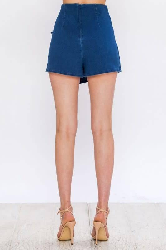 Yara Asymmetrical Wrap Shorts W/Grommet