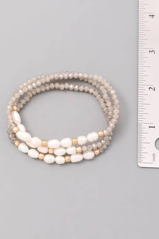 Beaded Bracelet W/MOP