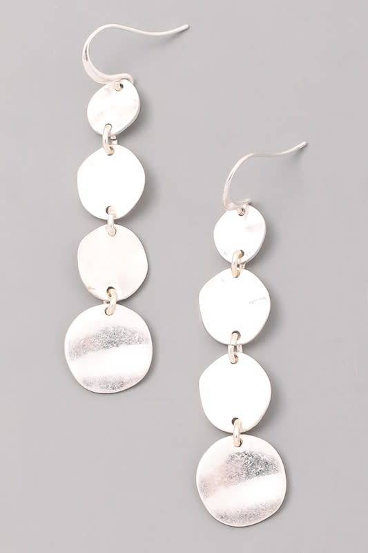 Tiered Round Dangle Earrings