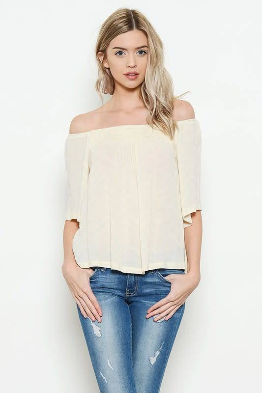 Pattern Offshoulder Top