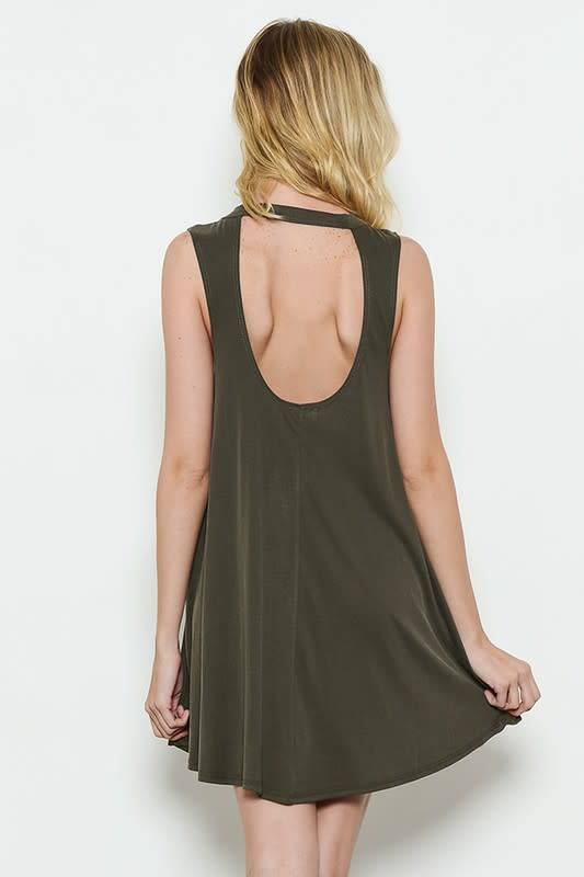 S/L Open Back Knit Dress