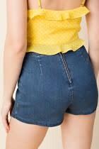 Hi Waist Asymmetrical Skort W/Zipper