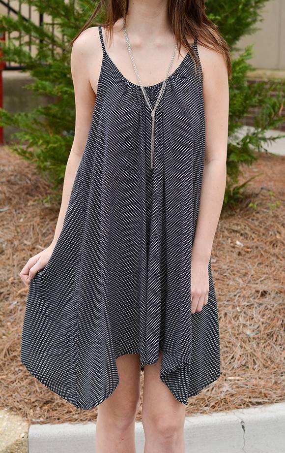 Tiny Polka Dot Flowy Cami Dress