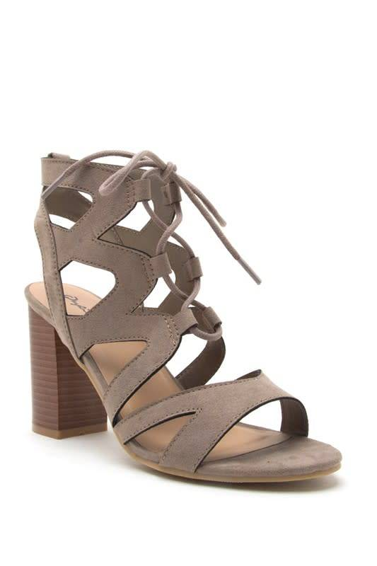 Lace up Cut Out Wedge