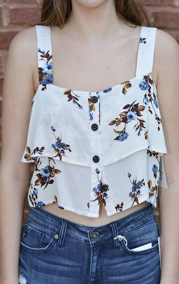 Layered Floral Tank Top