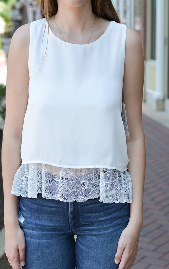 S/L Satin Layered Top W/Lace