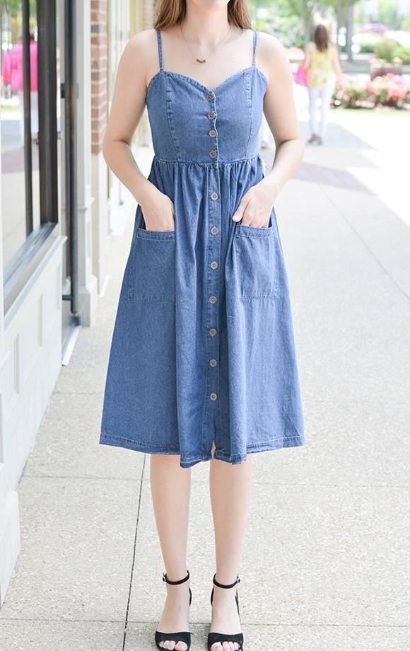 Midi Aline Sweetheart Bodice Dress