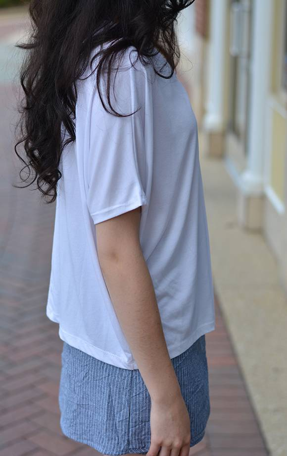 Twisted Neckline Soft Jersey Tee