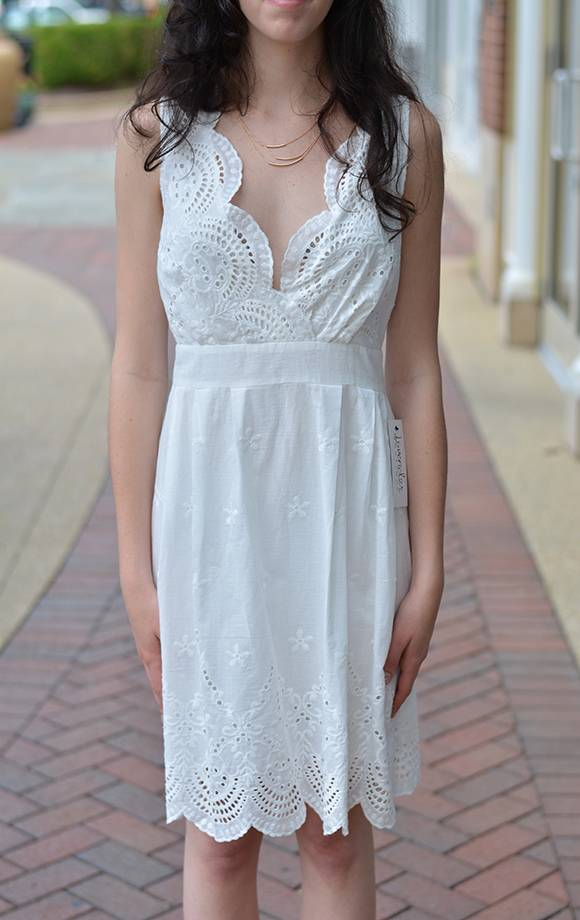 Crochet Lace Bodice Vnck Mini Dress