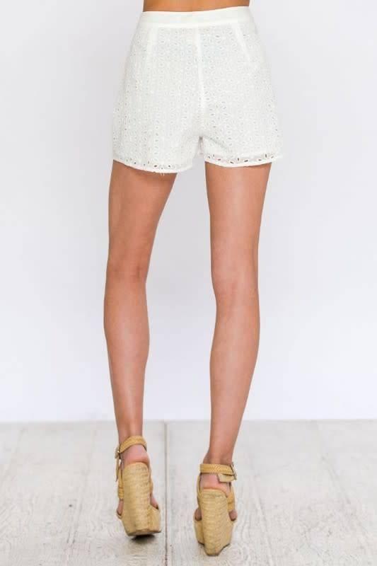 Eyelet Woven Shorts