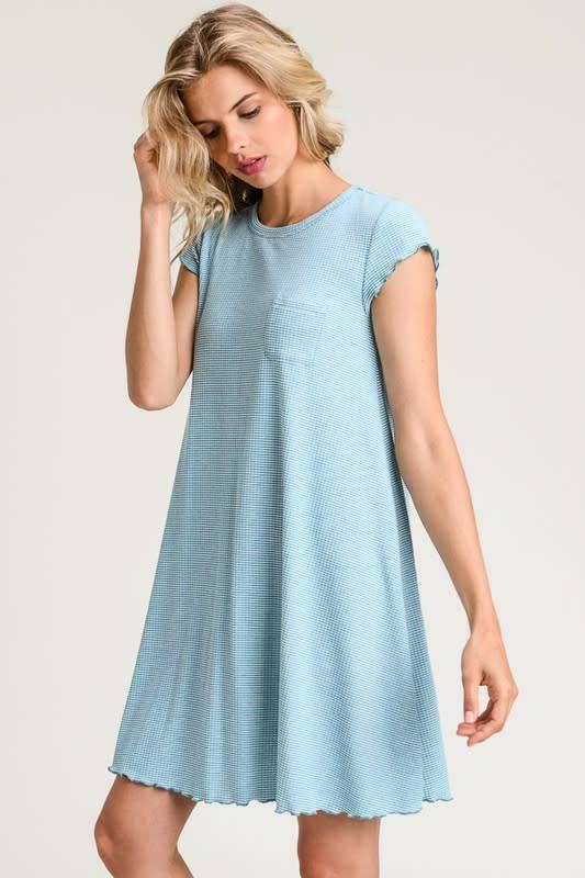PinStripe Slim Tshirt Dress