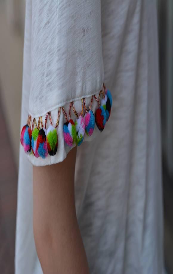 Pom Pom Detail Knit Top