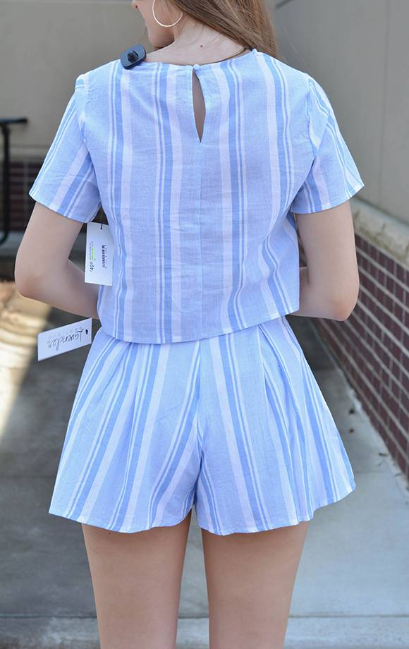 S/S Striped Top (PART OF SET)