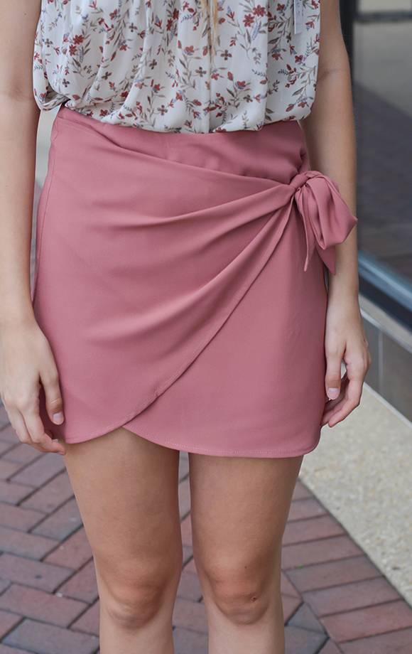 Textured Bubble Wrap Mini Skirt
