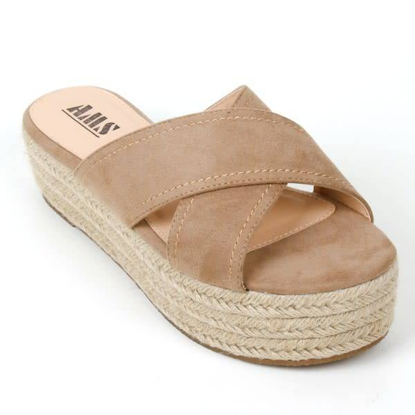Hannah Crossover Band Espadrille Platform Sandal