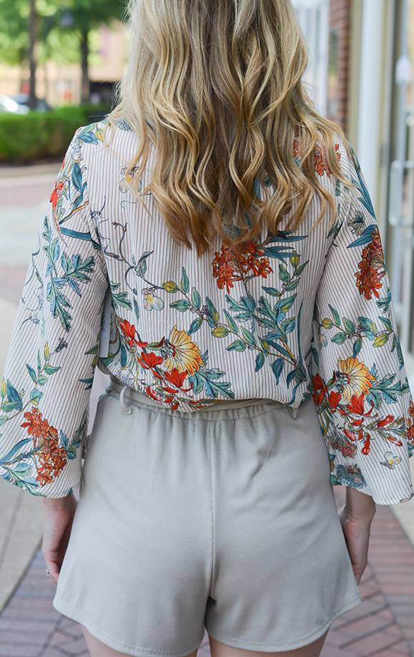 Whitney Floral Wide Sleeve Top