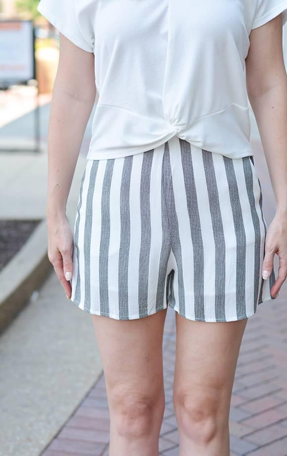 Fiona Stripe High Waist Shorts