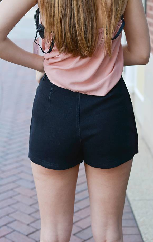 Wrap Skort With Buttons
