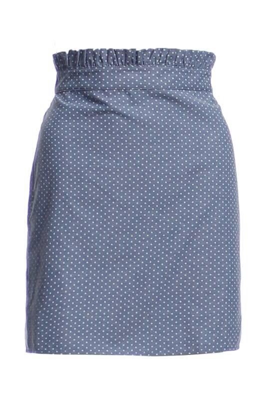 Ruffle Det Mini Polka Dot Skirt