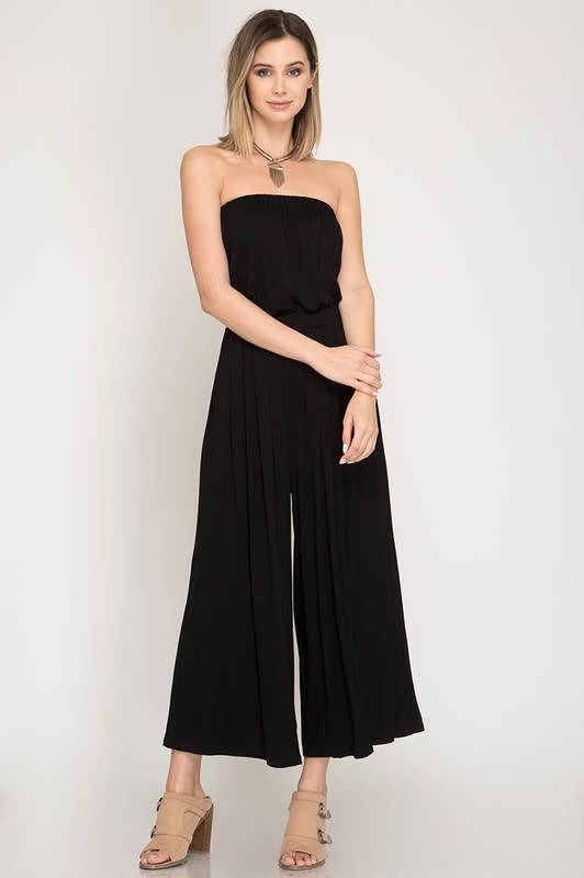 Strapless Knit Tube Jumpsuit