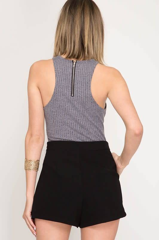 Woven Shorts W/Pintucks