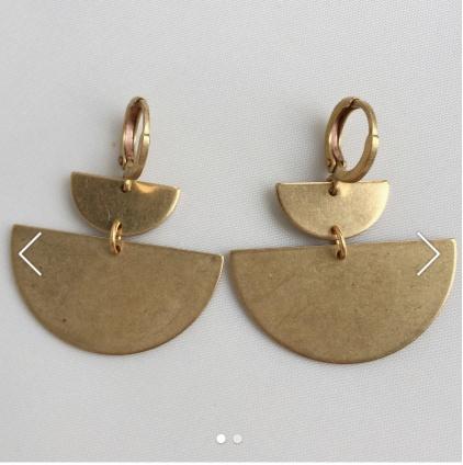 BOU-COU Double Half Circle Earrings