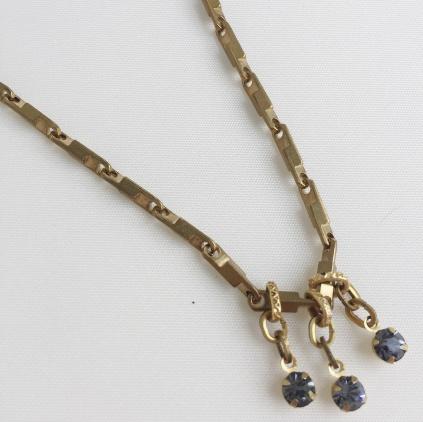 BOU-COU Triple Tiny Crystal Necklace